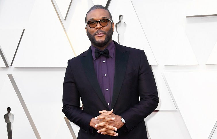 HOLLYWOOD, CALIFORNIA - FEBRUARY 24: Tyler Perry attends the 91st Annual Academy Awards at Hollywood and Highland on February 24, 2019 in Hollywood, California