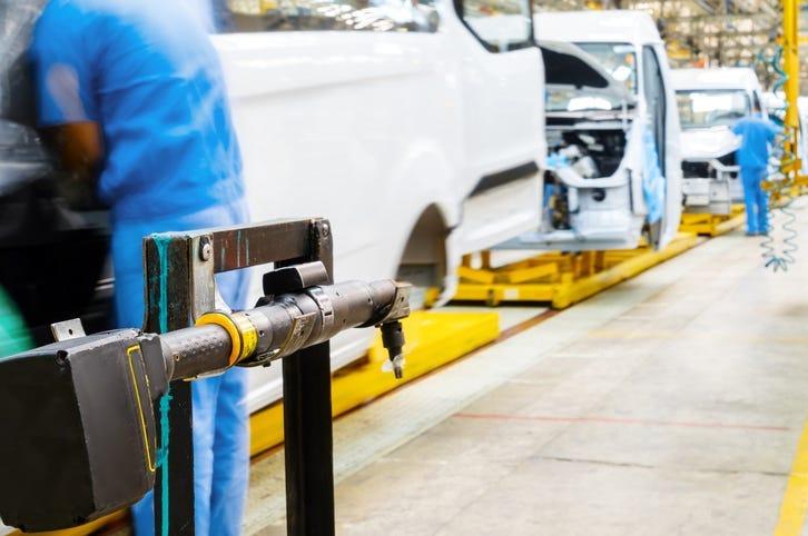 Automobile production line, Factory