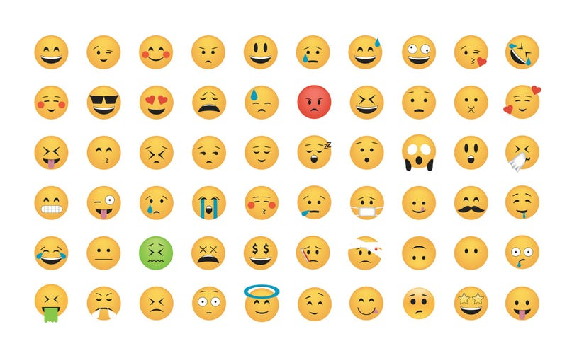 Multitude of emojis