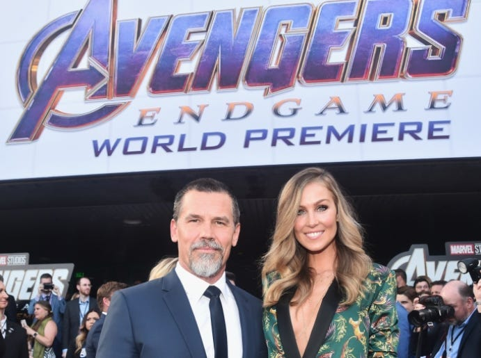 LOS ANGELES, CA - APRIL 22: Josh Brolin (L) and Kathryn Boyd attend the Los Angeles World Premiere of Marvel Studios' 'Avengers: Endgame' at the Los Angeles Convention Center on April 23, 2019 in Los Angeles, California.
