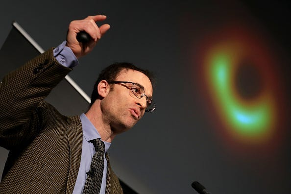 Sheperd Doeleman reveals the first photograph of a black hole