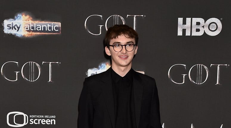 Isaac Hempstead Wright attends the