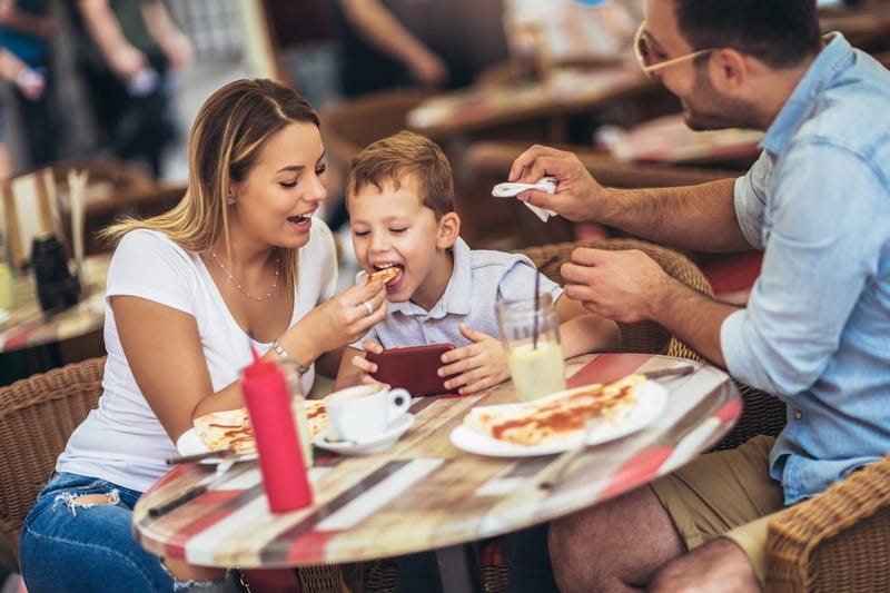 Family eating at a restaurant