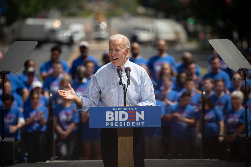 Former U.S. Vice President and Democratic presidential candidate Joe Biden speaks during a campaign kickoff rally, May 18, 2019 in Philadelphia, Pennsylvania.