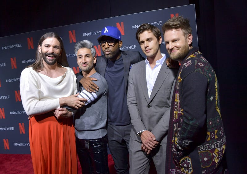 """Jonathan Van Ness, Tan France, Karamo Brown, Antoni Porowski, and Bobby Berk attend the Netflix FYSEE """"Queer Eye"""" panel and reception at Raleigh Studios on May 16, 2019 in Los Angeles, California."""