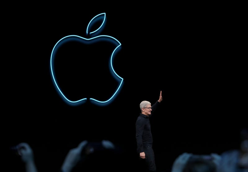 : Apple CEO Tim Cook delivers the keynote address during the 2019 Apple Worldwide Developer Conference (WWDC) at the San Jose Convention Center on June 03, 2019 in San Jose.