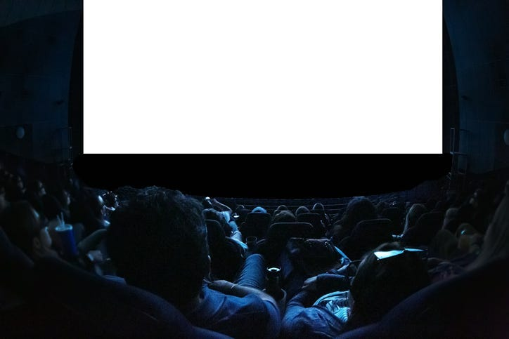 People watching a movie.