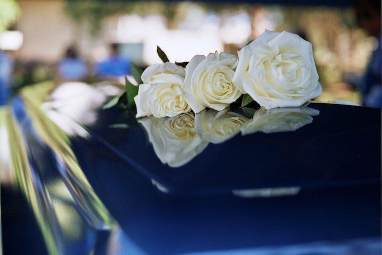 Coffin, Casket, Flowers, Funeral