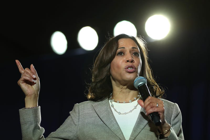 Democratic presidential candidate U.S. Sen. Kamala Harris (D-CA) speaks during the AARP and The Des Moines Register Iowa Presidential Candidate Forum on July 16, 2019 in Bettendorf, Iowa.