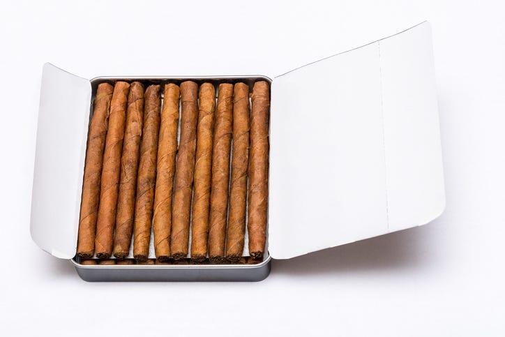 Box of cigarillos
