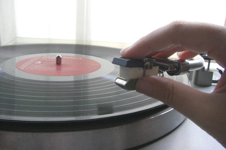 Vinyl, Record Player, Needle, Hand