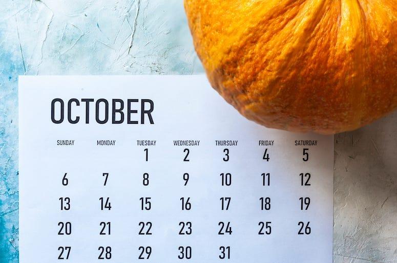 Calendar, October, Pumpkin