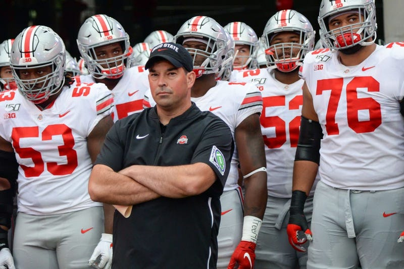 LINCOLN, NE - SEPTEMBER 28: Head coach Ryan Day of the Ohio State Buckeyes waits with his team to take the field before the game against the Nebraska Cornhuskers at Memorial Stadium on September 28, 2019 in Lincoln, Nebraska. (Photo by Steven Branscombe/G
