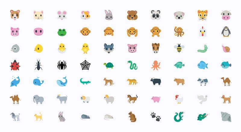 Animals Vector Illustration Emojis, Icons Set. All Flat Wildlife Symbols Collection – Vector