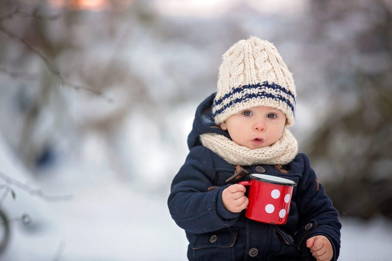 Cute Kid In Winter Clothes