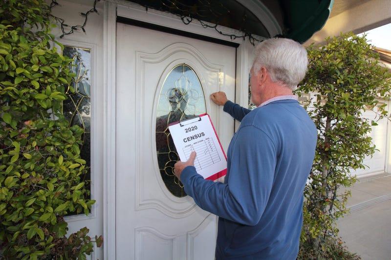 Census Worker Going Door to Door