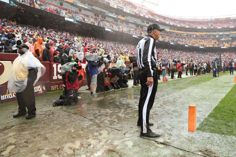 Photos: Rain turns FedEx Field into swamp