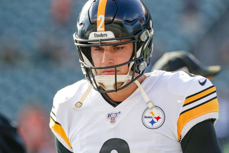 Mason Rudolph of the Pittsburgh Steelers is seen before a game