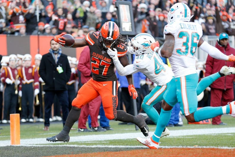 Kareem Hunt TD with Browns vs Dolphins