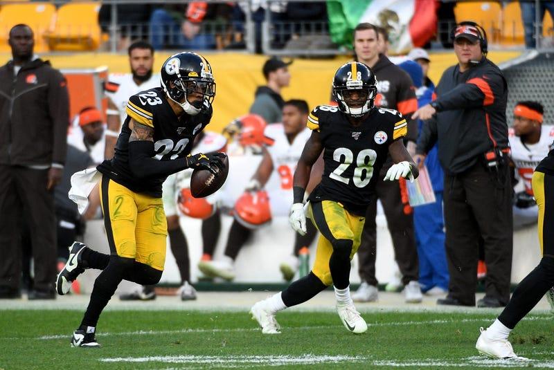 Joe Haden Baker Mayfield interception Cleveland Browns Pittsburgh Steelers