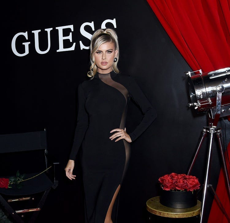 Kellie Stewart attends GUESS Kicks-off Holiday Season at The Peppermint Club on November 07, 2019 in Los Angeles, California