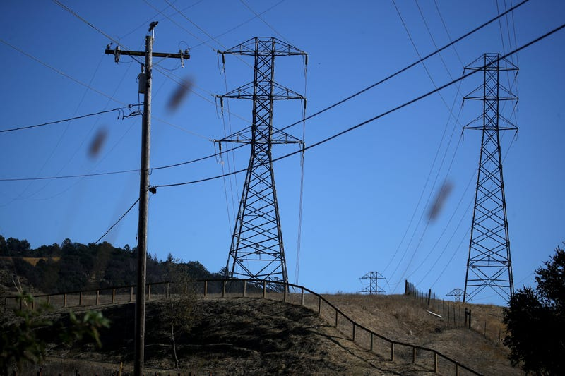 A view of power lines during a Pacific Gas and Electric (PG&E) public safety power shutoff on November 20, 2019 in Santa Rosa, California.