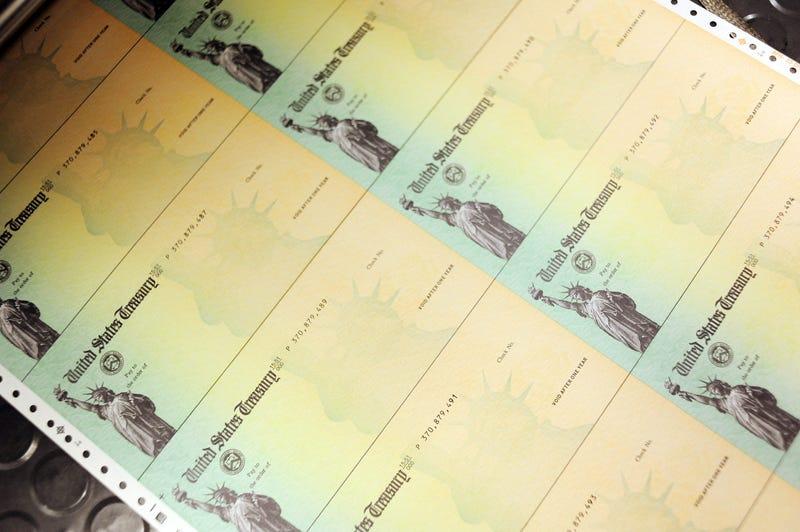Blank U.S. Treasury checks