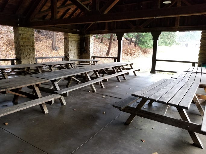 Picnic Tables, Summer Camp