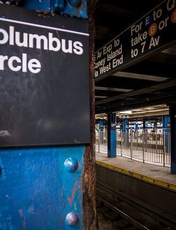 D train Columbus Circle