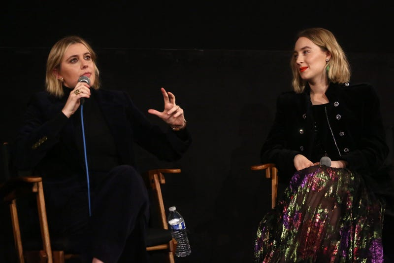 """Director Greta Gerwig and star Saoirse Ronan attend the American Cinematheque Screening Q&A Of Columbia Pictures' """"Little Women"""" at the Egyptian Theatre on January 03, 2020 in Hollywood."""