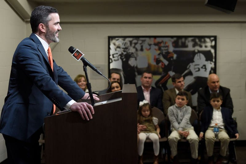 CLEVELAND, OHIO - JANUARY 14: Kevin Stefanski talks to the media after being introduced as the Cleveland Browns new head coach on January 14, 2020 in Cleveland, Ohio. (Photo by Jason Miller/Getty Images)