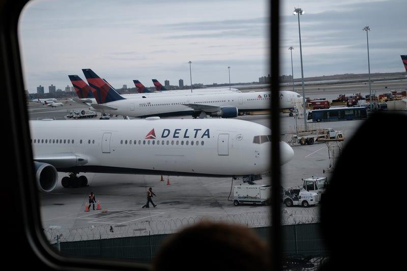 A Delta airplane at JFK Airport