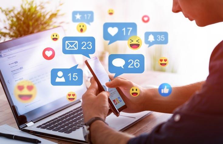 Person using social media