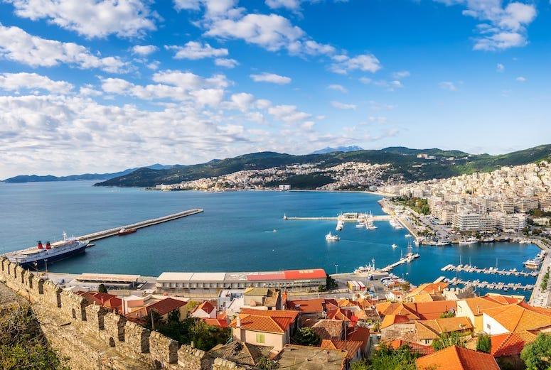 Kavala, Northern Greece, Sea, Water, Cruise, Town