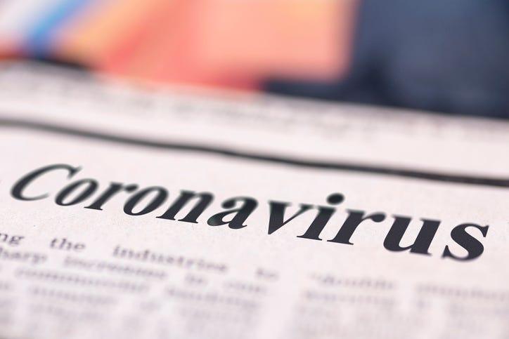 coronavirus newspaper