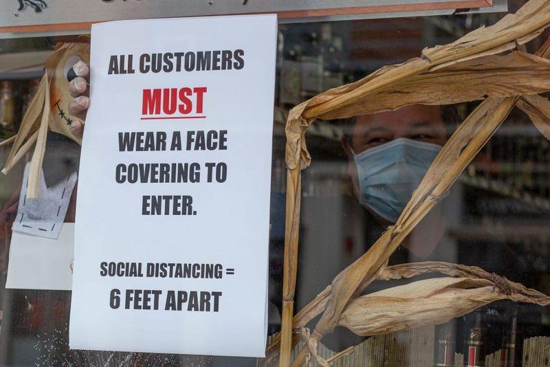 Coronavirus Wear A Mask Sign