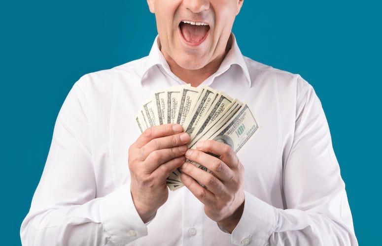 Man, Smile, Smiling, Cash, Money