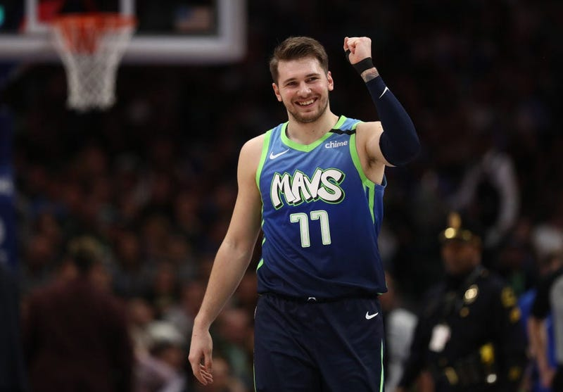 Luka Doncic #77 of the Dallas Mavericks reacts during play against the Memphis Grizzlies in the second half at American Airlines Center on March 06, 2020 in Dallas, Texas.