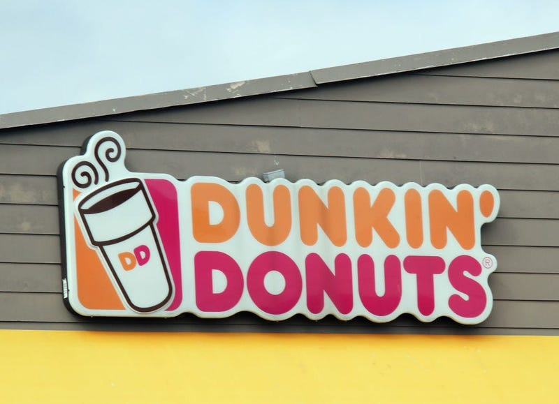The sign for Dunkin' Donuts