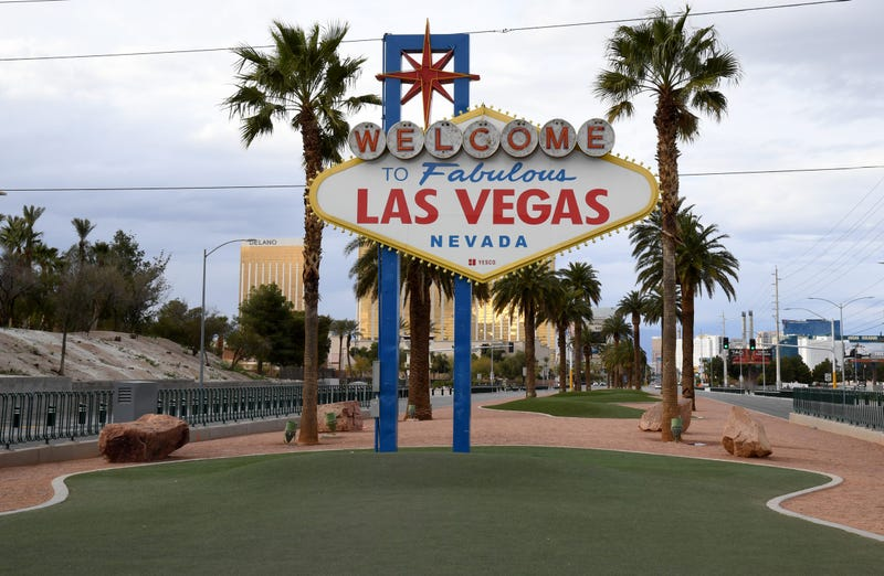 "An Empty ""Welcome To Las Vegas: sign"