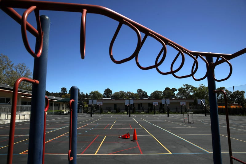 The playground sits empty at Kent Middle School on April 01, 2020 in Kentfield.