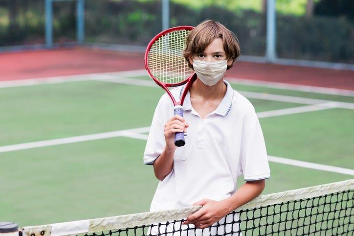 High School Kid Wearing Mask