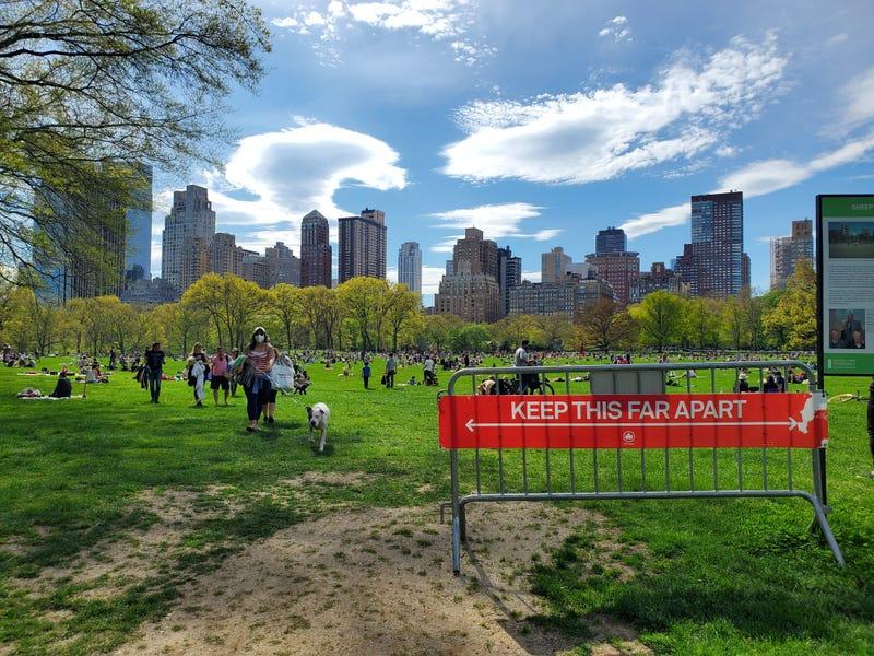 Coronavirus NYC Central Park