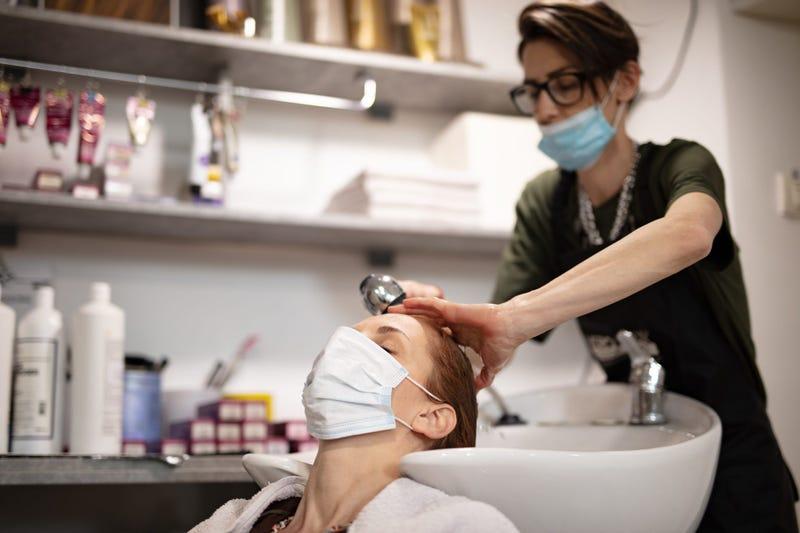 Hair Salon with Masks (GETTY)