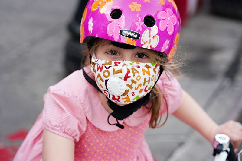 NYC coronavirus - child in mask