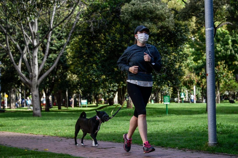 face mask, running, exercise