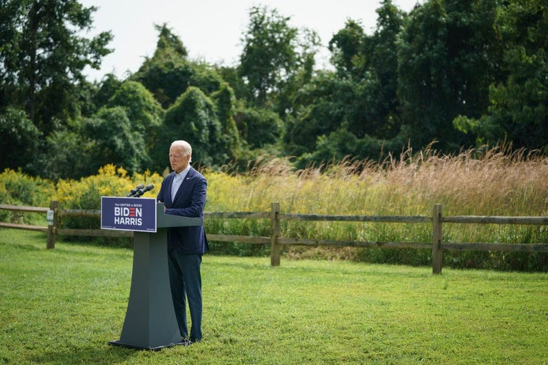 Democratic presidential nominee Joe Biden speaks about climate change and the wildfires on the West Coast