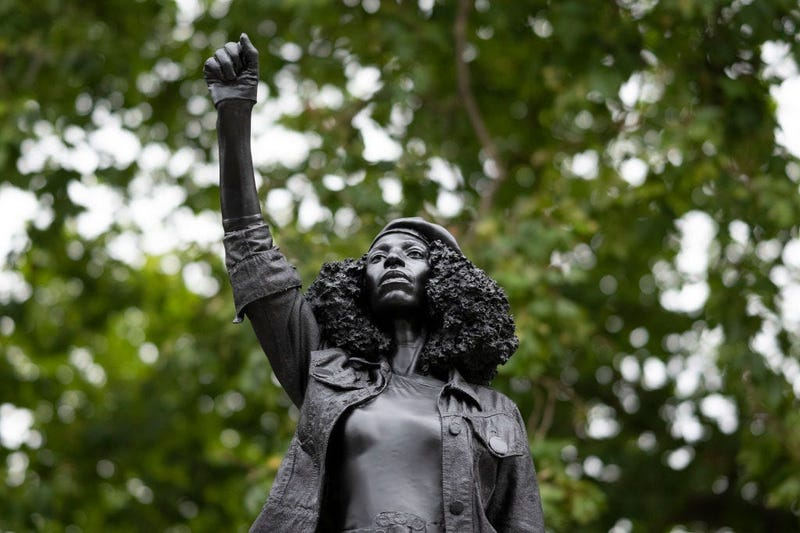 A new sculpture, by local artist Marc Quinn, of Black Lives Matter protestor  (GETTY)