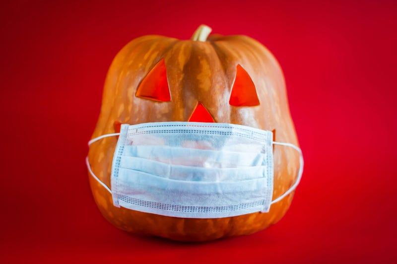 pumpkin wearing a mask