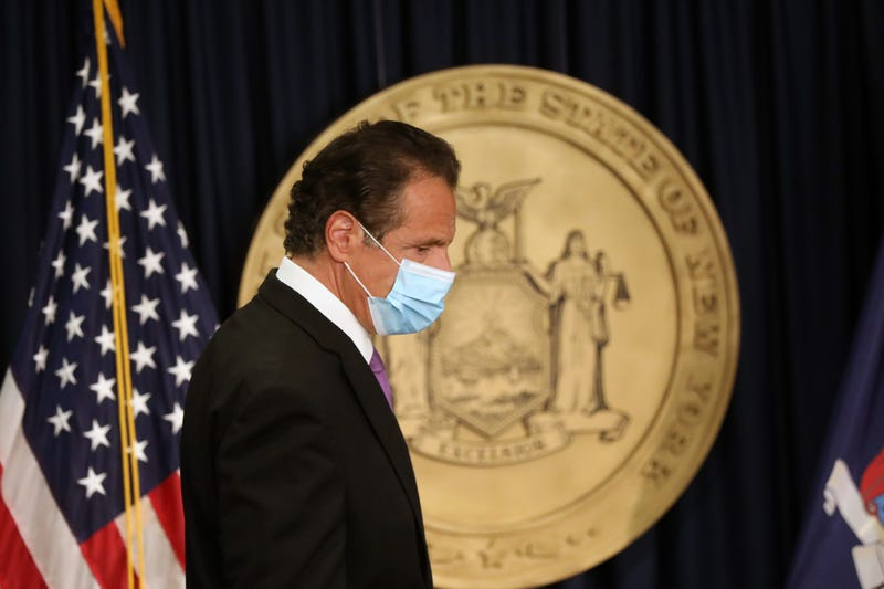 New York state Gov. Andrew Cuomo arrives for a news conference on September 08, 2020 in New York City.